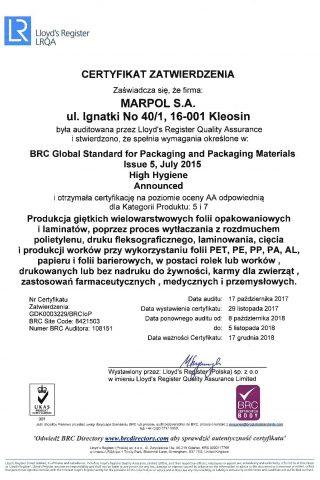 BRC P&PM - certyfikat Marpol_2017-page-001